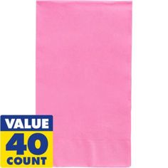 Pink Guest Towels 40ct - Party City $5.99 for 40 http://www.partycity.com/product/pink+hand+towels+40ct.do?sortby=ourPicks&size=all&carousel=true&navSet=178849
