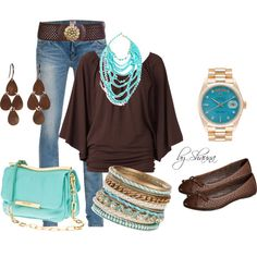 Love brown and teal