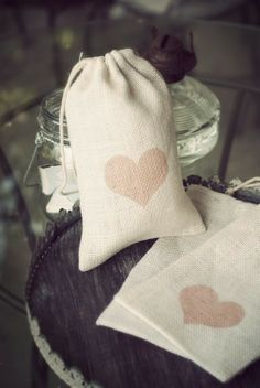 Flower Girl Gift Bag  Ivory Burlap by LilMissi on Etsy