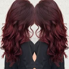 Trendy Fall Hair Colors: Your Best Autumn Hair Color Guide Hair Color dark red hair color Fall Hair Colors, Cool Hair Color, Fall Red Hair, Deep Red Hair Color, Winter Hair Colour, Red Velvet Hair Color, Wine Red Hair Color, Pretty Red Hair, Hair Colours
