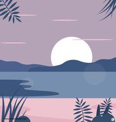 Easy Canvas Art, Small Canvas Art, Beach Illustration, Graphic Design Illustration, Aesthetic Painting, Aesthetic Art, Arte Peculiar, Guache, Ipad Art