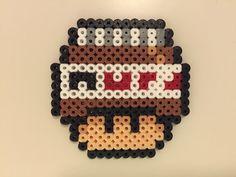 perler bead mushroom Nutella - by Bjrnbr