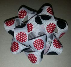 Red, White, black hairbow