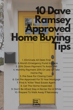 "How do you know if you're ""ready"" to buy a home? It's not easy to know ""for sure"". The real estate/mortgage industrial complex will try to convince you that you are perhaps when indeed your are not. Make sure to complete these 10 steps before you buy, to ensure your purchase is a blessing and not a curse. Be careful out there. Home Buying Tips, Buying Your First Home, Money Saving Tips, Financial Peace, Financial Tips, Dave Ramsey House, David Ramsey, Budgeting Finances, Budgeting Tips"