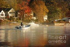 Title  Fall On The River   Artist  K Hines   Medium  Photograph - Photograph