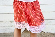 simple skirt with beautiful lace detail