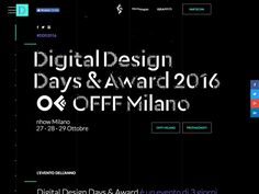 Digital Design Days & Award + Offf Italia Milano 27 28 29 Ottobre 2016