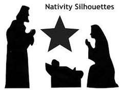 Image result for nativity silhouette patterns