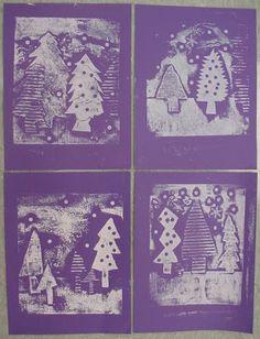 Mrs. Knight's Smartest Artists: 3rd grade - Winter trees print