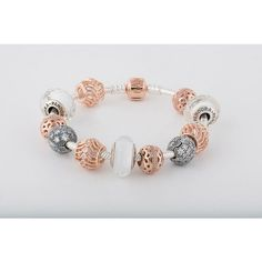 PANDORA Rose Gold and Silver Bracelet.