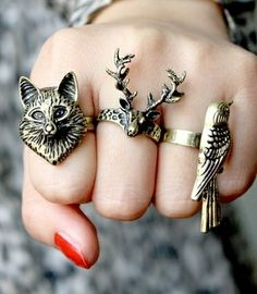 rings for my hands , hipster style