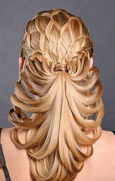 Prom Braids Picture unique braids for prom full dose Prom Braids. Here is Prom Braids Picture for you. Prom Braids try 42 half up half down prom hairstyle. Creative Hairstyles, Weave Hairstyles, Pretty Hairstyles, Wedding Hairstyles, 2014 Hairstyles, Bridal Hairstyle, Haircuts, Unique Braids, Beautiful Braids