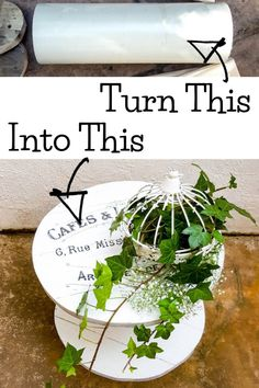 Farmhouse Style Decorating, Farmhouse Decor, Wooden Cable Spools, Make Your Own, Make It Yourself, Diy Wreath, Diy Food, Home Decor Inspiration, Diy Tutorial