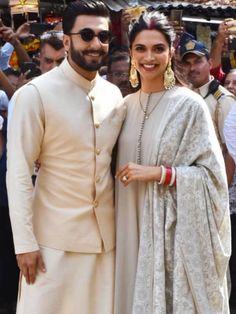 Deepika and Ranveer in Sabhyasachi