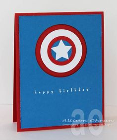 Captain America Birthday by alliohran - Cards and Paper Crafts at Splitcoaststampers