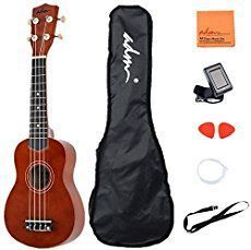 ADM ukulele features a rich gloss finish, while chrome die-cast tuners assure your instrument will keep in tune. The ukulele offers great sound, great play ability, and a great price. Ukulele Song, Kala Ukulele, Cool Ukulele, Ukelele Soprano, Hawaiian Ukulele, Start Pack, Classical Guitar, Kits For Kids, Nursery Rhymes