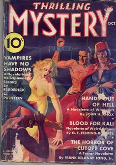 THRILLING MYSTERY OCTOBER 1936 A COMPLETE GOOD COPY. READERS CREASE ALONG SPINE. THREE TAPE PULLS ON FRONT COVER. BOTTOM OF SPINE TAPED. USUAL MINOR CREASES, TEARS AND FOLDS ALONG EDGES OF COVERS. | eBay!