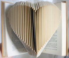 Heart-book folding. Cool, but I think I can't do this sa kahit anong book ko. Hihihi.