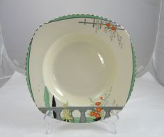 The Best Art Deco Burleigh Ware Zenith Design Bowl C.1930s Brocade Design Fine Craftsmanship Burleigh/burgess & Leigh
