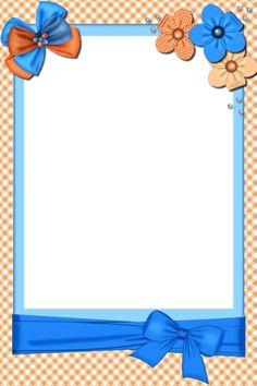 Printable Border, Printable Recipe Cards, Page Borders Design, Border Design, Borders For Paper, Borders And Frames, Diy Crafts Paper Flowers, Flower Background Design, Blue Flower Wallpaper
