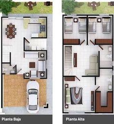 Resultado de imagem para plantas arquitectonicas en terreno 6 x 16 #casasmodernaschicas
