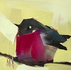 Black Robin Limited Edition Art Print by Angela Moulton