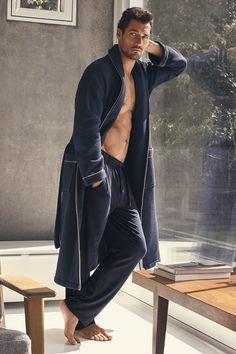 David Gandy for Autograph F/W 2016: Luxury cotton waffle Spa gown, £65 Supima® slim-fit pyjama bottom with Modal, £27.50