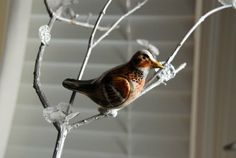 that artist woman: How to make Christmas Bird Ornaments - these are SO awesome, made from clay over aluminum foil - even kids can make them, and they turn out looking great! I want to make a cardinal ...