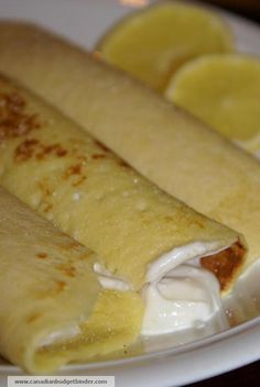 Stuffed Crepes with Lemon, Sugar and Honey Greek Yogurt... Click for ...