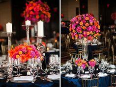 Flowers by Dejaun Stroud at The Mandarin. Photos by Andy Marcus. #Luxury #Wedding #Floral #Arrangement #NewYork