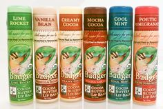 If you haven't tried these lip balms made with Fair Trade Certified ingredients from Badger Balm, you're missing out.