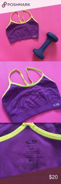 Champion Purple Sports Bra Animal print Champion Sports bra Adjustable straps  Size Small Champion Intimates & Sleepwear Bras
