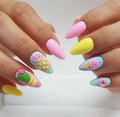 lovely gel nail art design trends