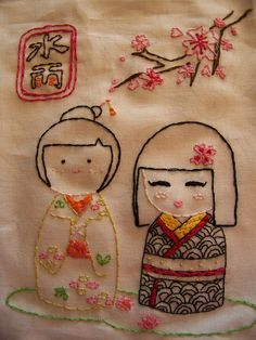 Girls Together by Miss Paula in Stitches, via Flickr