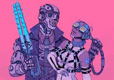 ArtStation - Power of The Machine, Josan Gonzalez Cyberpunk 2077, Cyberpunk Kunst, Character Concept, Character Art, Concept Art, Steampunk, Comic Kunst, Comic Art, Science Fiction