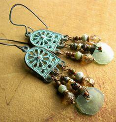 Roman Glass Chandelier Earrings