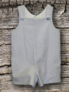 Boys blue stripe seersucker jonjon short outfit by AmyRuthBoutique, $26.00 Possible Easter outfit for Jaxson. Would have it monogrammed with his Initials In navy blue Or like green thread :)
