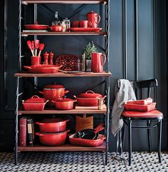 Christmas in Paris - Le Creuset Cerise Cast Iron, Stoneware & Accessories