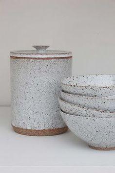 Vert Rouge Céramique Salad Bowl Pastèque Pattern Handmade pottery