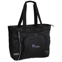 Entrust your promotional message to this sleek, full-featured tote bag—it won't let you down!