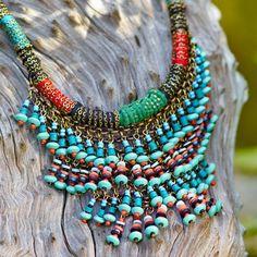 Rajasthani Beaded Necklace ~ Hand-Crafted by artisans in India via www.worldmarket.com #CRAFTBYWORLDMARKET
