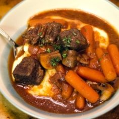 Baked Beef and Red Wine Stew by soletshangout
