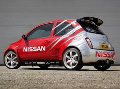 2002-2010 Nissan Micra >>> Nos amis de chez Nissan UK ont osé cette K12 concept 350SR, et le V6 de la 350Z (+ de 300ch) en position centrale arrière !