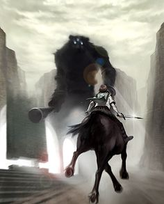 Wander to Kyozou (Shadow Of The Colossus) Image - Zerochan Anime Image Board Video Game Art, Video Games, Fictional World, Snow Elf, Illustrations, Pretty Art, Fantasy Creatures, Concept Art, Character Design
