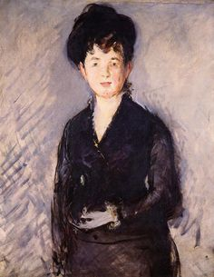 Ritratto di una donna con un perno d'oro di Edouard Manet 1879
