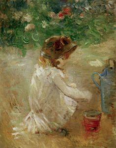 Berthe Morisot, Les Pâtés de sable (1882)