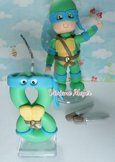 Tartaruga ninja com vela