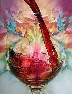 Colorful wine pour