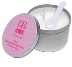 BB Couture's new organic moisturizing oil candle melts into a moisturizing lotion that can be applied to the skin. The warm lotion leaves skin feeling smooth and the soy and hemp extracts help promote healing and rejuvenation in the epidermis.  #bbcouture #candlelotion