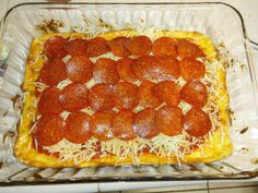 Another version of low carb pizza with cream cheese crust!
